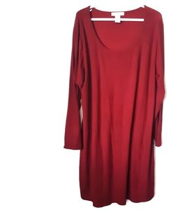 Planet Gold Red Long Sleeve Dress